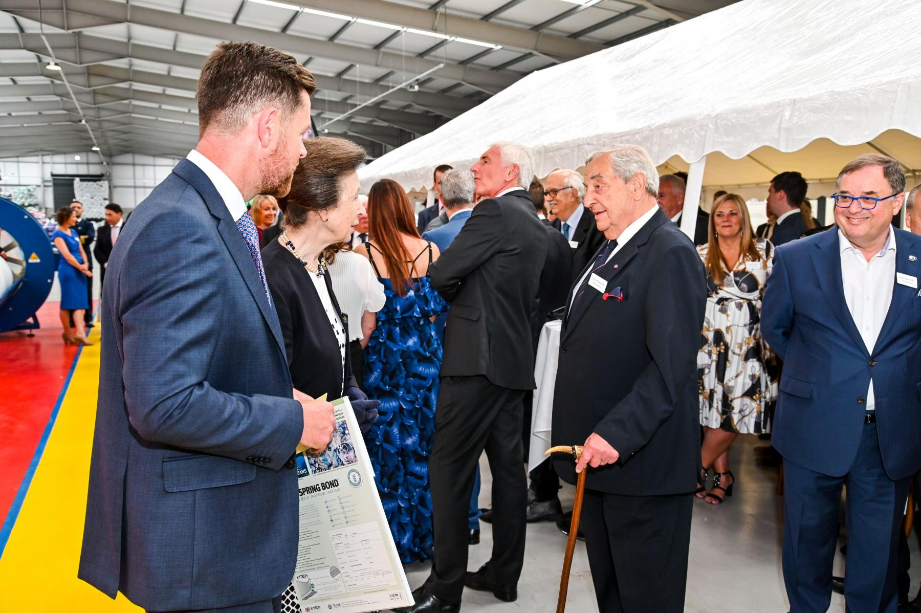 Society's Vice Chairman Meets Royalty in Bradford.
